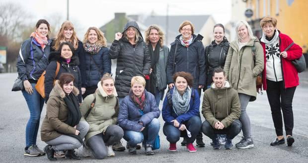 Dutch group visit Powerscourt House & Gardens