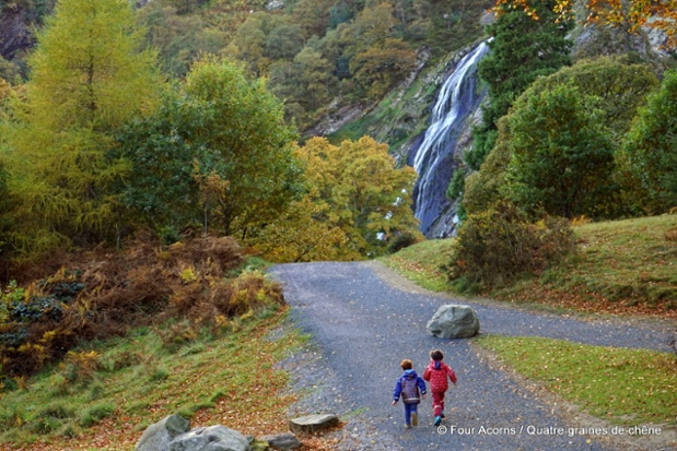 Powerscourt Waterfall Location