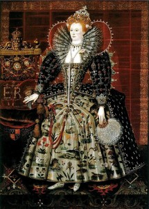 Queen Elizabeth, ca 1596, by by Nicholas Hilliard