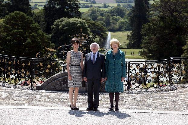 President of Ireland visits Powerscourt Gardens