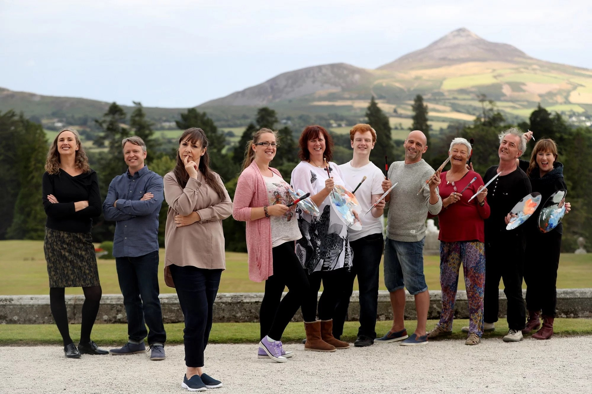 RTE Painting Programme at Powerscourt Estate