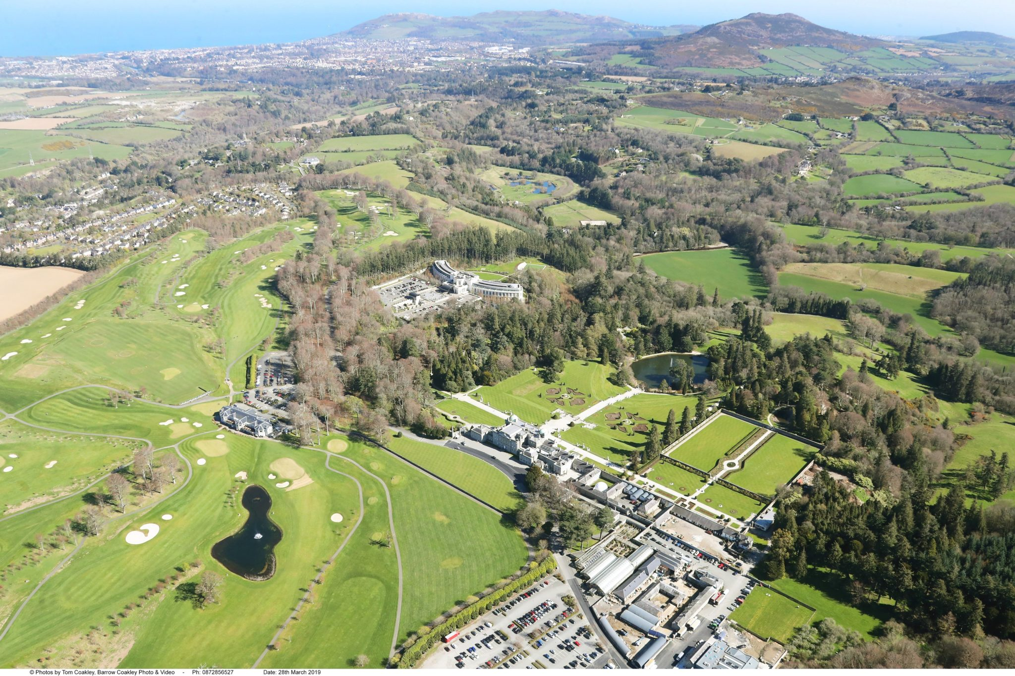 Powerscourt Estate from above