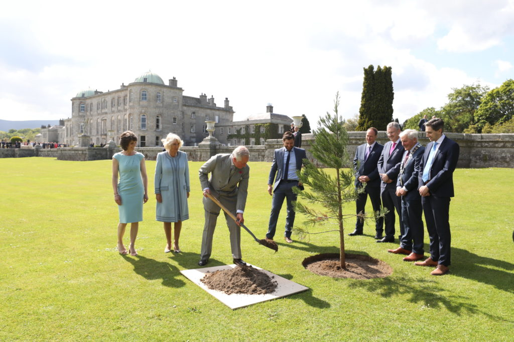Prince of Wales and Duchess of Cornwall visit Powerscourt Estate, Co. Wicklow