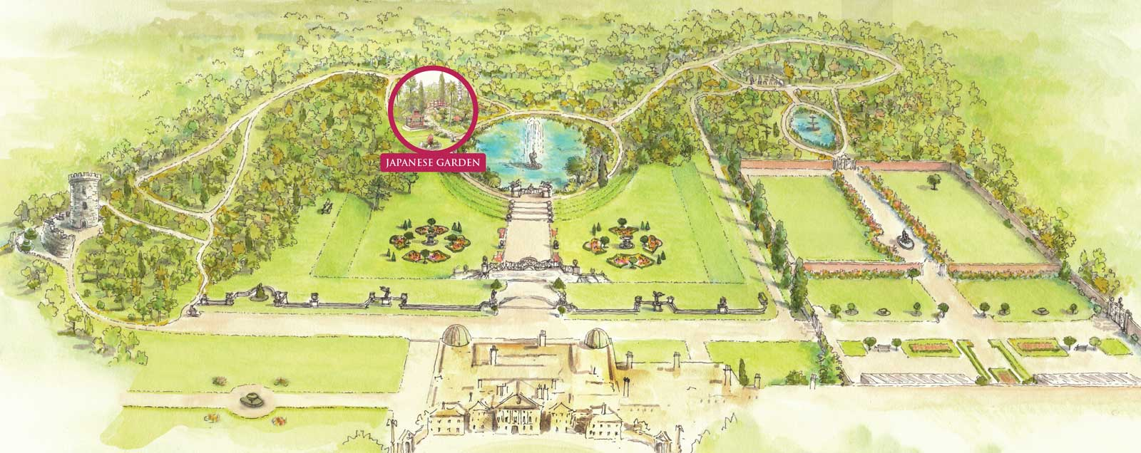 Map Japanese Garden Powerscourt Estate