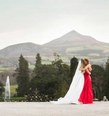 Bride and Bridesmaid Powerscourt Estate