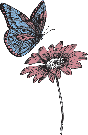 Butterfly-Flower-right