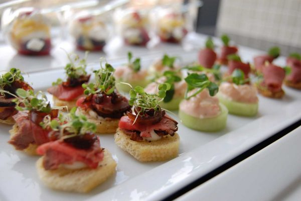 Canapes Powerscourt Wedding