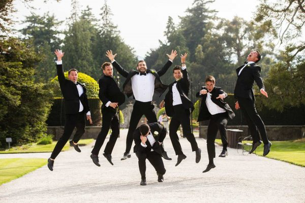 Lords a leaping Wedding Powerscourt