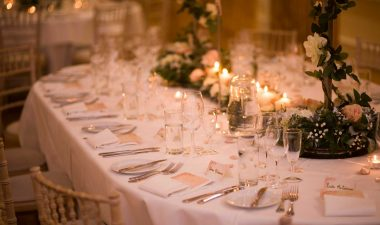 Oval Wedding Table setting Powerscourt