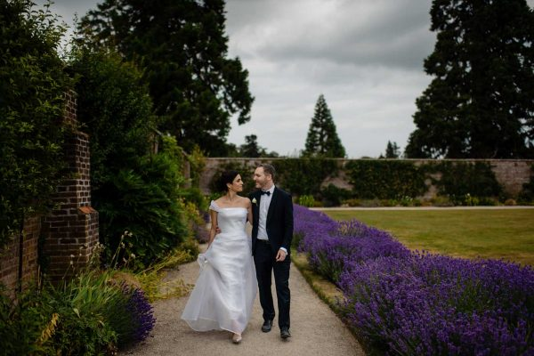 Paul & Rima Lavender Walled Garden Powerscourt Wedding