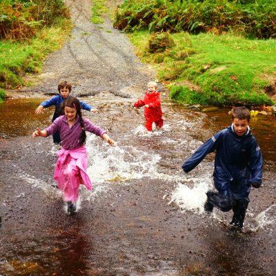 Fun at Powerscourt Waterfall Enniskerry