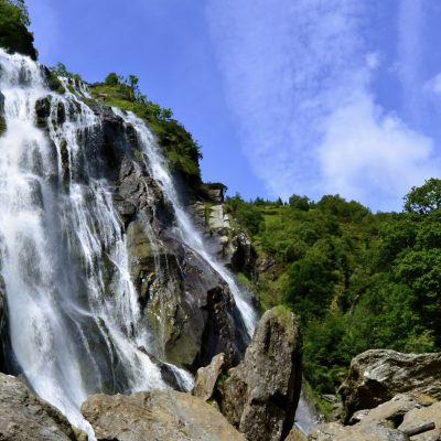 Highlights of the Waterfallrfall at Powerscourt Estate, Ireland