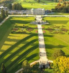 Powescourt Estate and Gardens aerial view