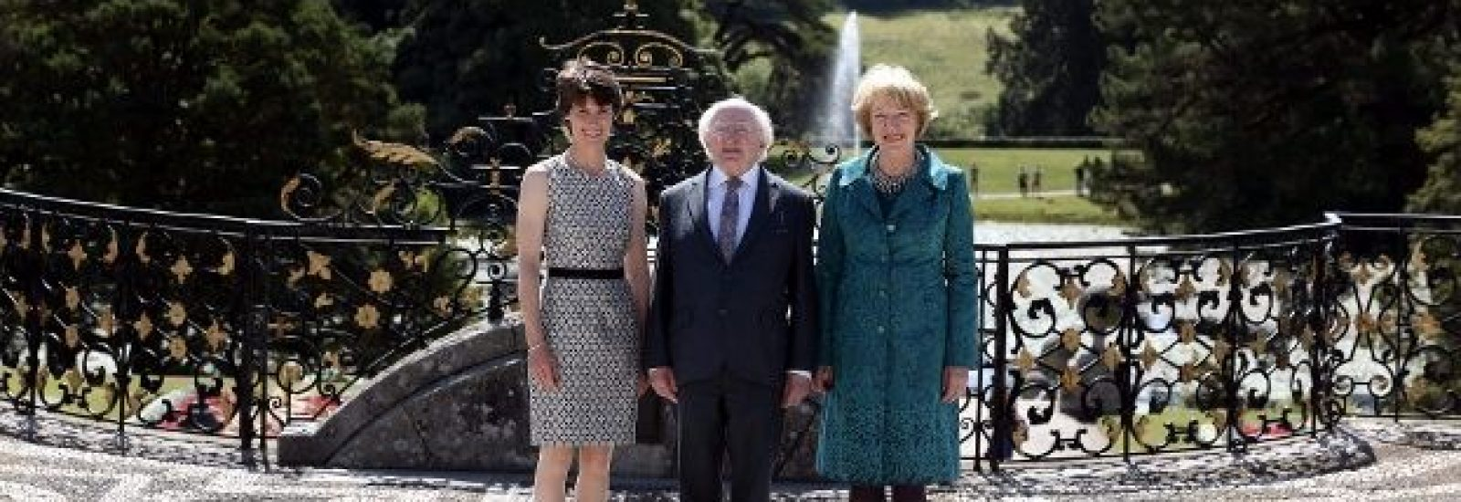 President of Ireland visits Powerscourt Gardens