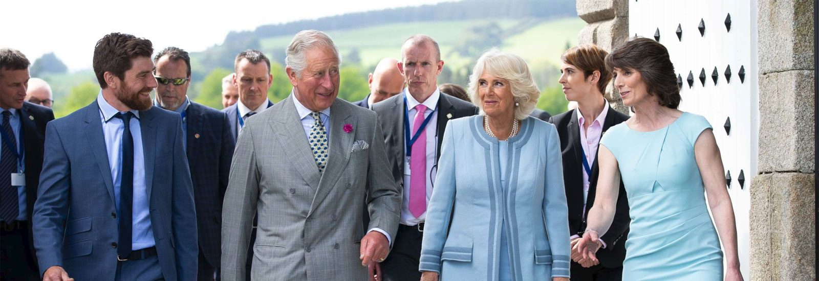 The Prince of Wales and The Duchess of Cornwall visit Powerscourt