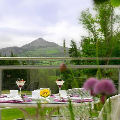 View from Powerscourt Hotel Enniskerry Wicklow Ireland