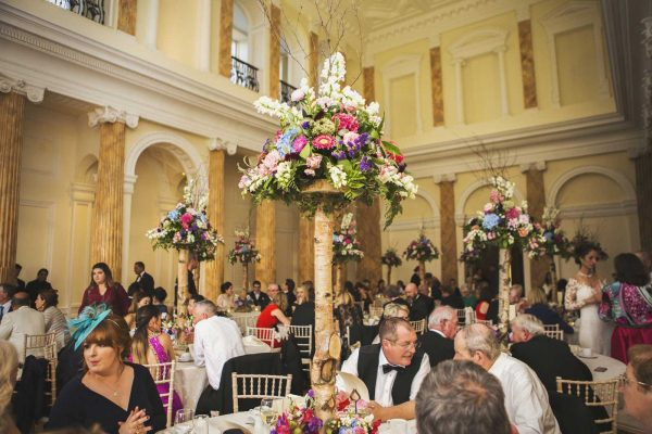 Wedding flowers ballroom Powerscourt